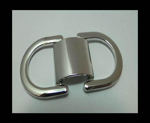 Zamak magnetic claps MGL-200-20*14mm-silver