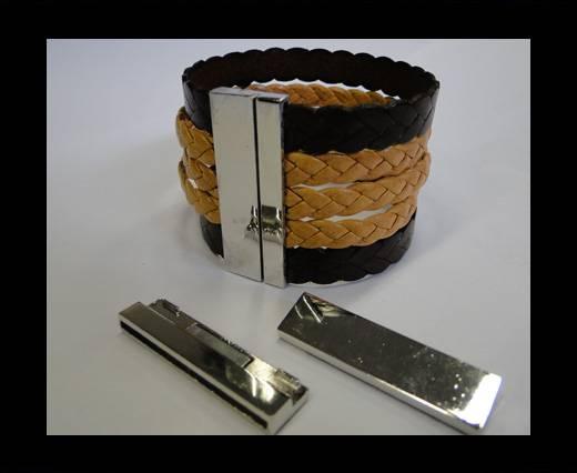 Zamac magnetic clasp MGL-206-40*2mm