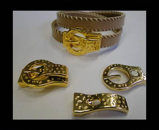 Zamak magnetic clasp MGL-219-gold-10*2,5mm