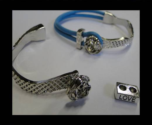 Half Cuff Bracelet Clasp   MGL-224-3mm