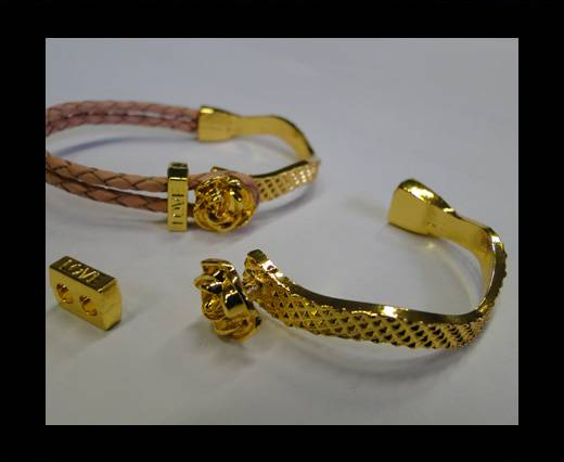 Half Cuff Bracelet Clasp MGL-224-3mm-Rose gold
