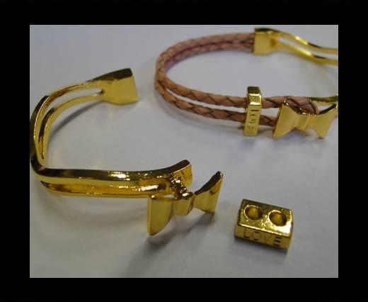 Half Cuff Bracelet Clasp  MGL-225-3mm-Gold