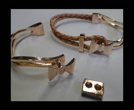 Half Cuff Bracelet Clasp   MGL-225-3mm-Rose gold