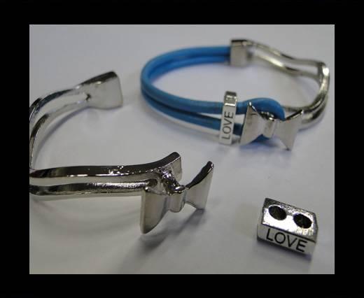 Half Cuff Bracelet Clasp  MGL-225-3mm