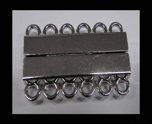 Multi Strand Clasps MGL-230-35mm Steel Silver