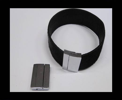 Zamak magnetic claps MGL-231-20*3mm Steel Silver