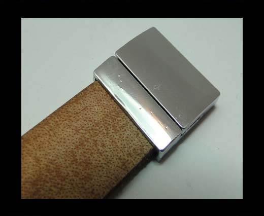Zamak magnetic claps MGL-231-20*3mm-silver