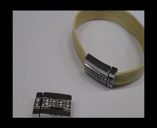 Zamak magnetic claps MGL-234-12*4mm Steel Silver