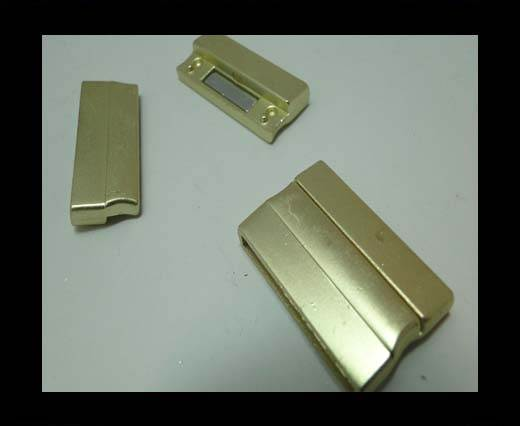 Zamak magnetic claps MGL-235-30*3mm-gold