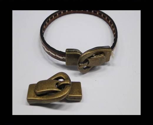 Zamak magnetic clasp MGL-242-9,5*4mm Antique Gold