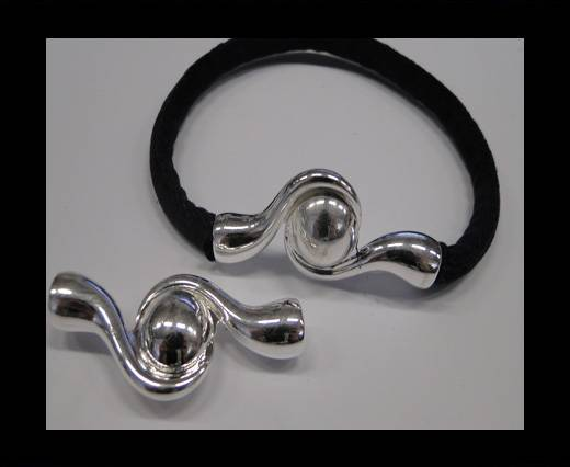 Buy Zamak magnetic claps MGL-243-6mm Silver at wholesale prices