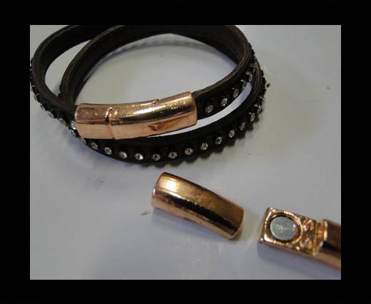 Zamak magnetic claps MGL-247-6*3MM-Rose Gold
