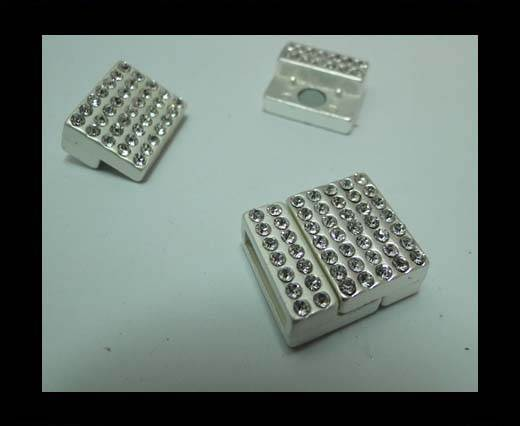 Zamak magnetic claps MGL-266-14*3mm-matt silver