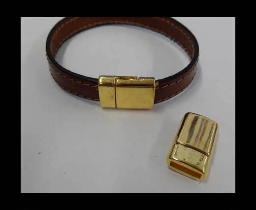 Zamak magnetic clasp MGL-271-10*2.5MM-Gold
