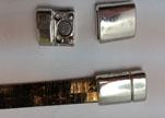 Zamak magnetic claps MGL-271-10*2,5mm-Antique Silver