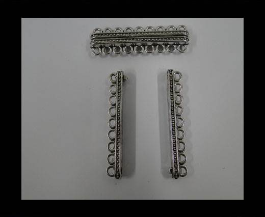 Buy Zamak magnetic claps MGL-285-57mm-Antique SILVER at wholesale prices