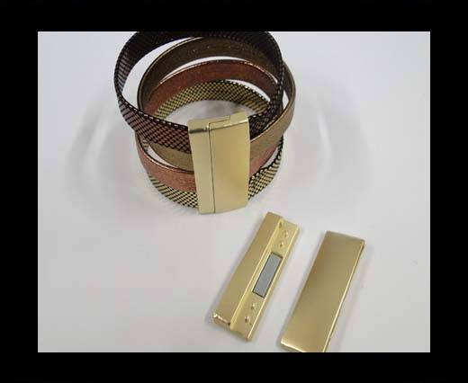 Zamac magnetic clasp MGL-297-40*3mm-gold matt