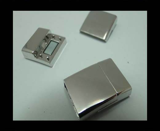 Buy Zamak magnetic claps MGL-298-15*3mm-silver at wholesale prices