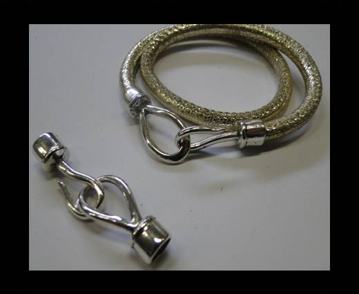 Zamak Hook Clasp MGL-305-6MM-Antique Silver