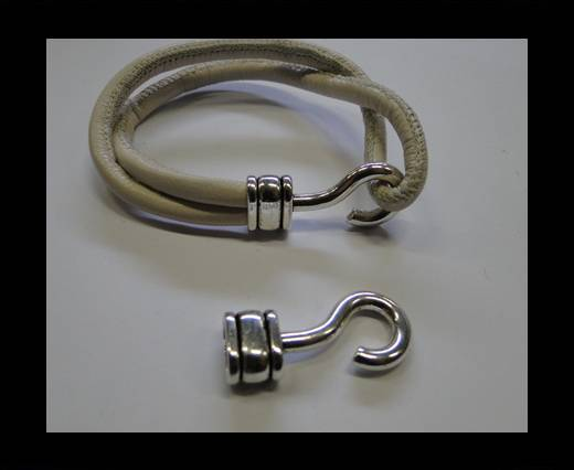 Zamak Hook Clasp MGL-306-9*8MM-Antique Silver