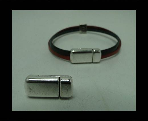 Zamak magnetic claps MGL-314-6x2.5mm-Silver