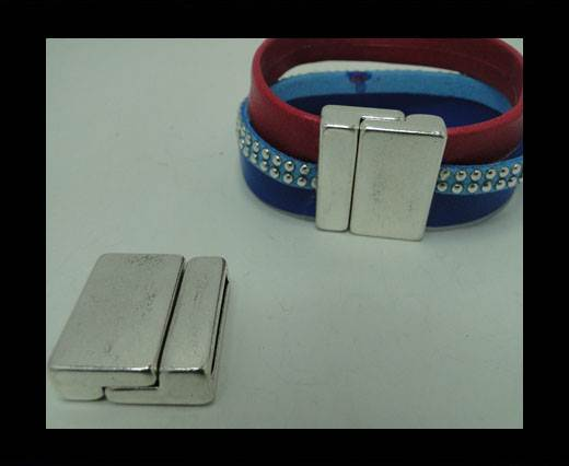 Zamak magnetic claps MGL-318-20X2,5mm-Steel