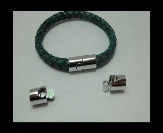 Zamak magnetic claps MGL-323-6mm-silver