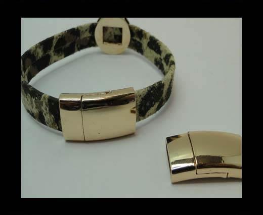 Zamak magnetic clasp MGL-324-10*3mm-GOLD