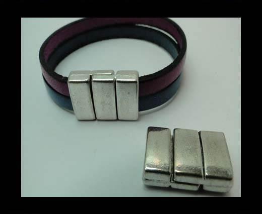 Zamak magnetic clasp MGL-327-10*3mm-STEEL