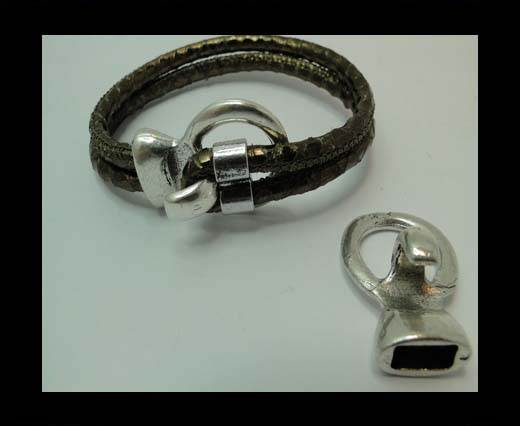 Zamak magnetic claps MGL-331-11*5mm-Anti. Silver