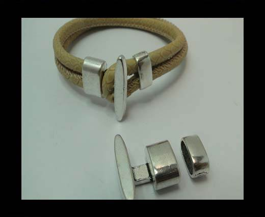 Zamak Toggle Clasp MGL-338-11*5mm-Antique SILVER