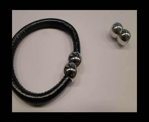 zamak round magnetic clasps MGL-36-6mm-silver