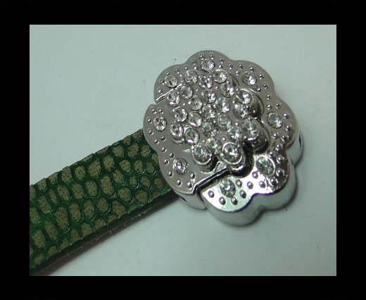 Zamak magnetic clasp MGL-378-10*2mm-silver