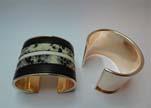 Zamak magnetic claps MGL-389-45mm-Rose Gold