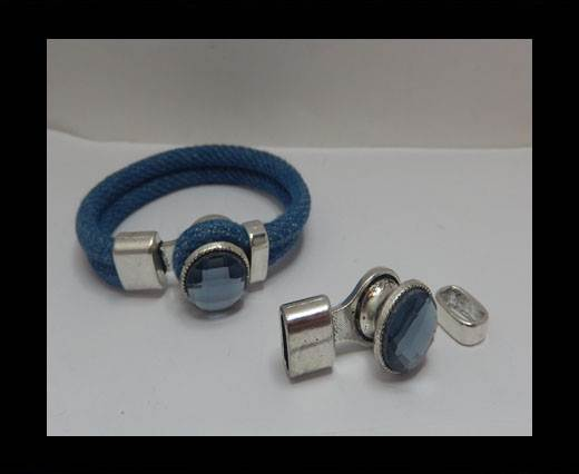 Half Cuff Bracelet Clasp MGL-397 - 10*4mm - Antisilver