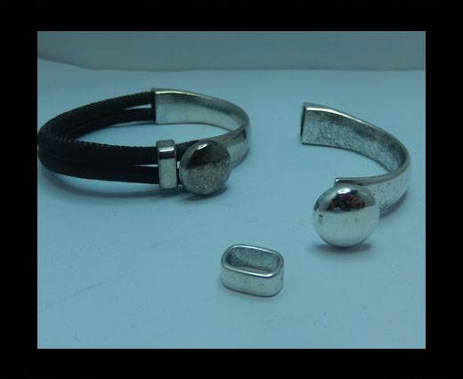 Buy Zamak magnetic claps MGL-398 - 10*4mm - Antisilver at wholesale prices