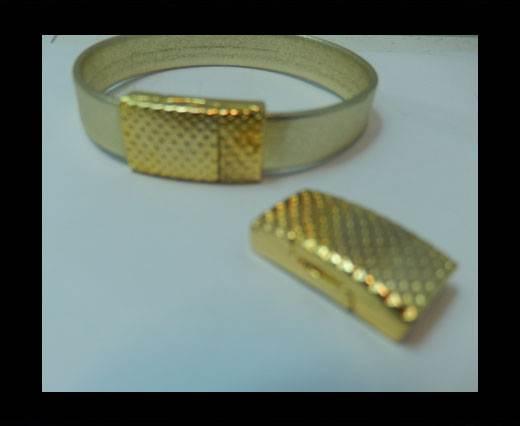 Zamak magnetic clasp MGL-408 - 10*2.5mm - Gold