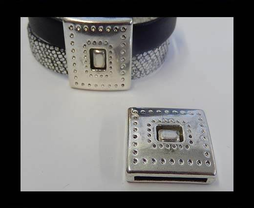 Zamak magnetic claps MGL-48-20*2.5mm-Anti. Silver