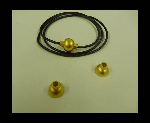 Zamak magnetic claps MGL-4-3MM-GOLD MATT