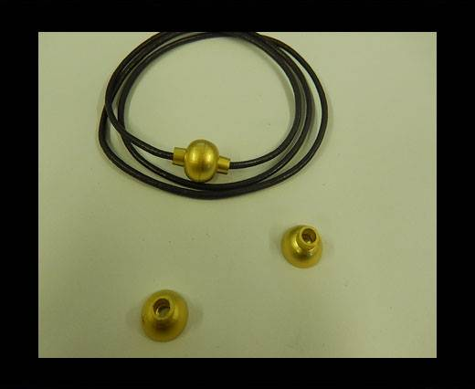Zamak magnetic claps MGL-4-4MM-GOLD MATT
