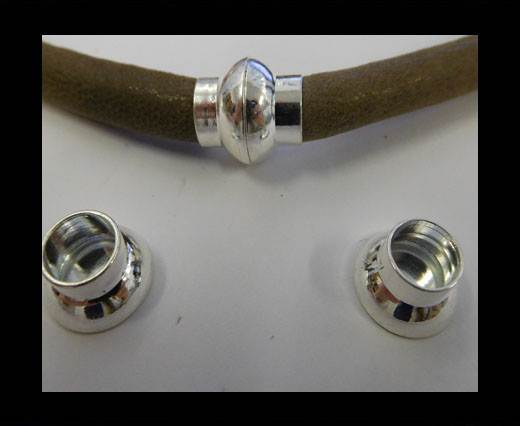 Buy Zamak magnetic claps MGL-4-8MM-SILVER at wholesale prices