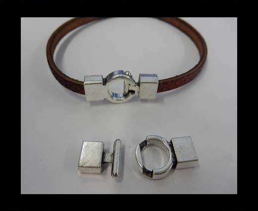 Buy Zamak magnetic claps MGL-50-6*3MM-Anti. Silver at wholesale prices
