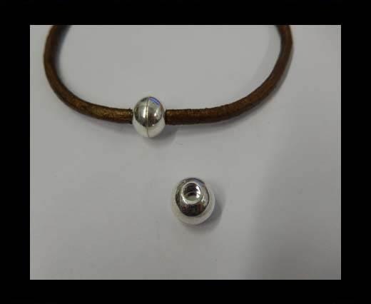 Zamak magnetic claps MGL-5-4mm-Silver