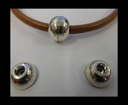 Zamak magnetic claps MGL-5-5MM-SILVER