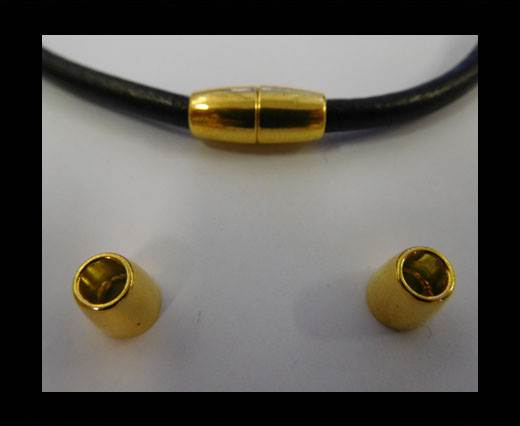 Zamak magnetic claps MGL-8-4MM-GOLD