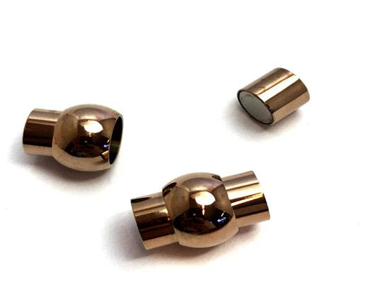 Stainless Steel Magnetic Clasp,Rose Gold,MGST-01 10mm