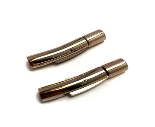 Stainless Steel Magnetic Clasp,Rose Gold,MGST-06 4mm