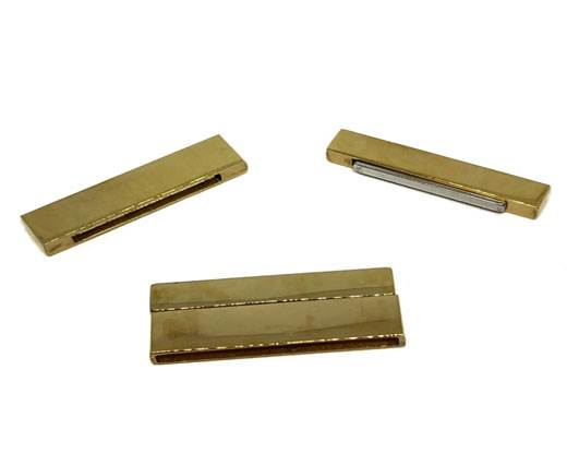 Stainless Steel Magnetic Clasp,Gold,MGST-105-40*3mm
