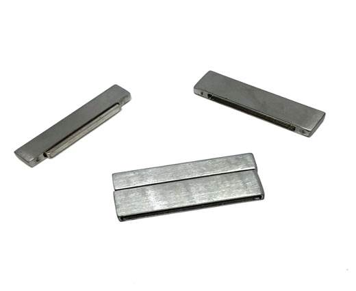 Stainless Steel Magnetic Clasp,Matt,MGST-105-40*3mm