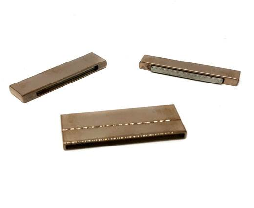Stainless Steel Magnetic Clasp,Rose Gold,MGST-105-40*3mm